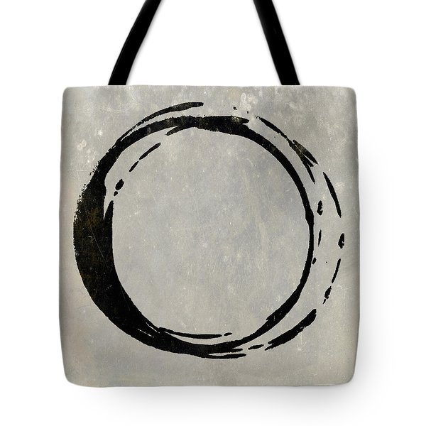 Enso No. 107 Black On Taupe Tote Bag