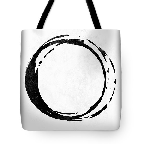 Enso No. 107 Black On White Tote Bag