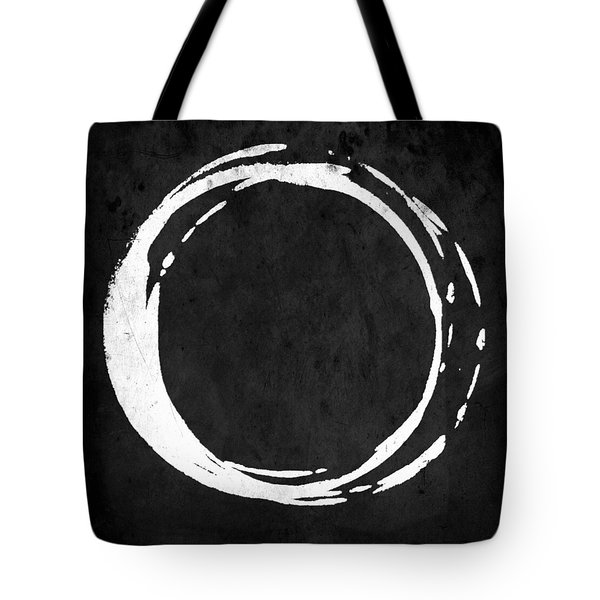 Enso No. 107 White On Black Tote Bag
