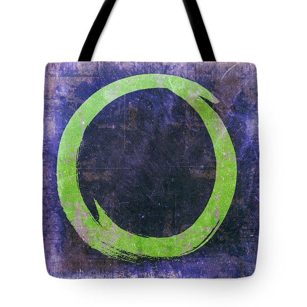 Enso No. 108 Green On Purple Tote Bag