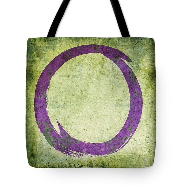 Enso No. 108 Purple On Green Tote Bag