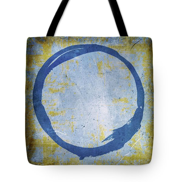 Enso No. 109 Blue On Blue Tote Bag