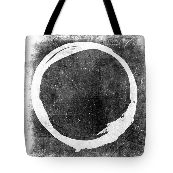Enso No. 109 White On Black Tote Bag