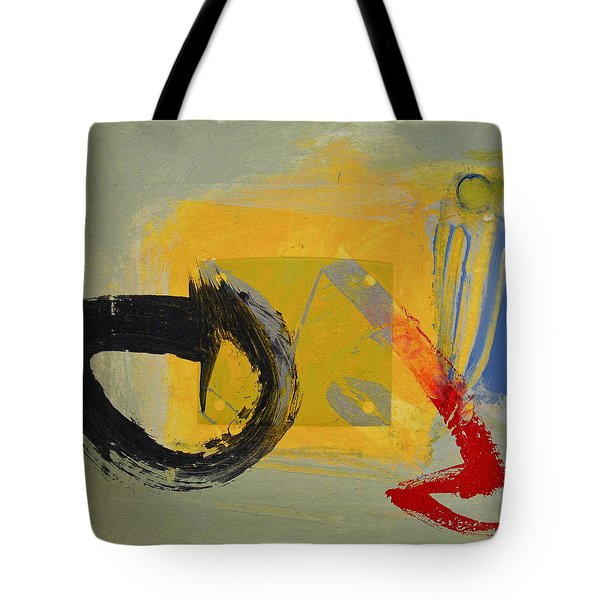 Tote Bag featuring the painting Enso Sun Block by Cliff Spohn