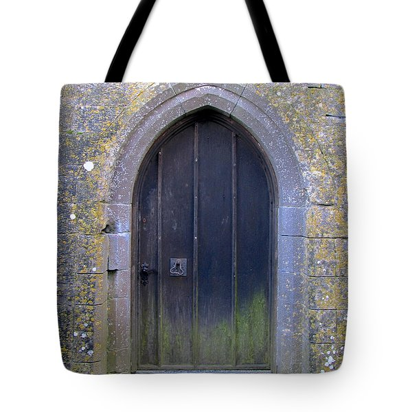Enter At Your Own Risk Tote Bag by Suzanne Oesterling