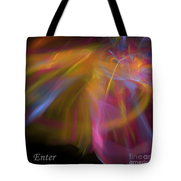 Tote Bag featuring the digital art Enter by Margie Chapman