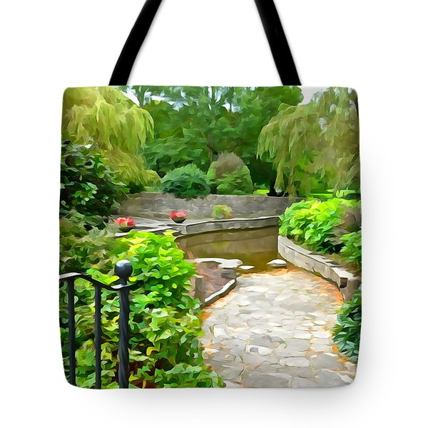 Enter The Garden Tote Bag
