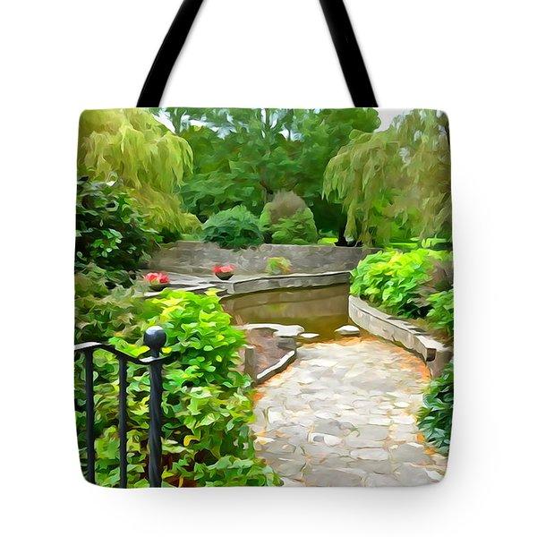 Enter The Garden Tote Bag