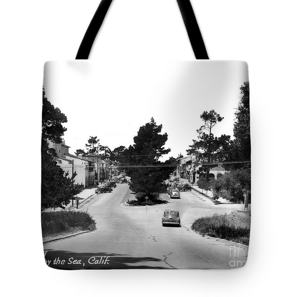 Entering Carmel By The Sea Calif. Circa 1945 Tote Bag