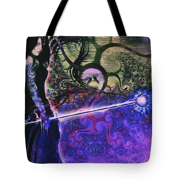 Entering In The Spirit Of The Night Tote Bag by Linda Sannuti