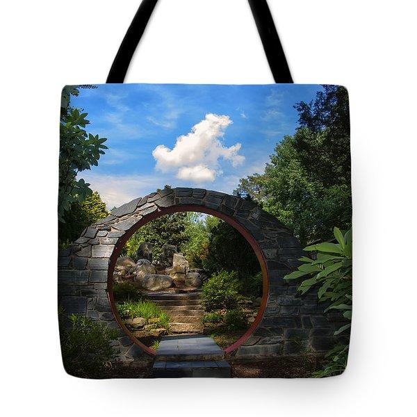 Entering The Garden Gate Tote Bag