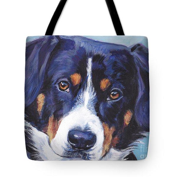 Entlebucher Mountain Dog Tote Bag by Lee Ann Shepard
