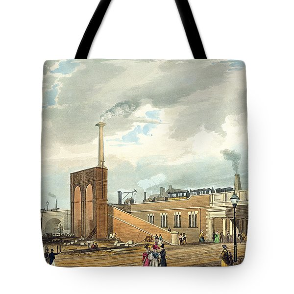Entrance Into Manchester Across Water Tote Bag