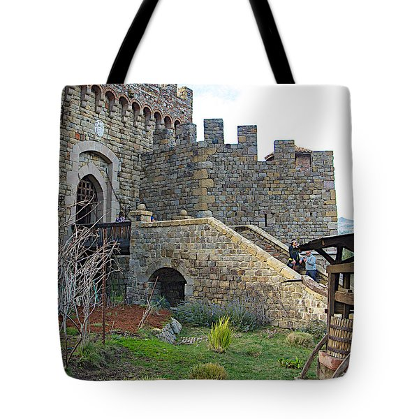 Entrance To Castello Di Amorosa In Napa Valley-ca Tote Bag