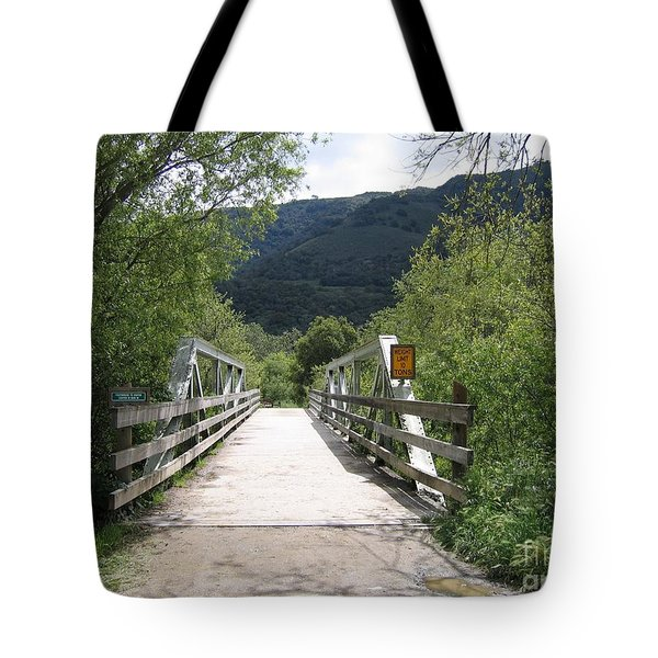 Entrance To Garland Park Tote Bag