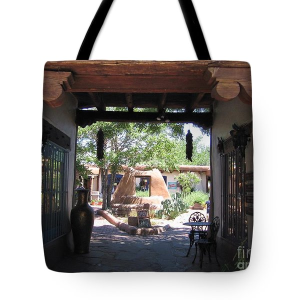 Tote Bag featuring the photograph Entrance To Market Place by Dora Sofia Caputo Photographic Art and Design