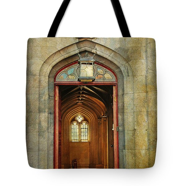 Entrance To The Gothic Revival Chapel. Streets Of Dublin. Painting Collection Tote Bag by Jenny Rainbow