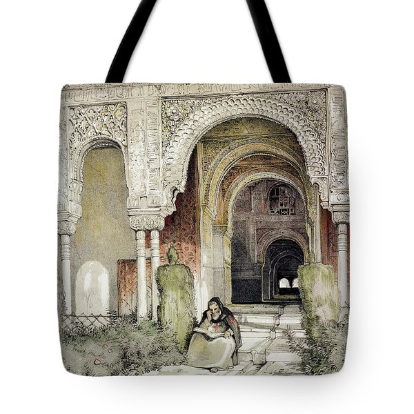 Entrance To The Hall Of The Two Sisters Tote Bag