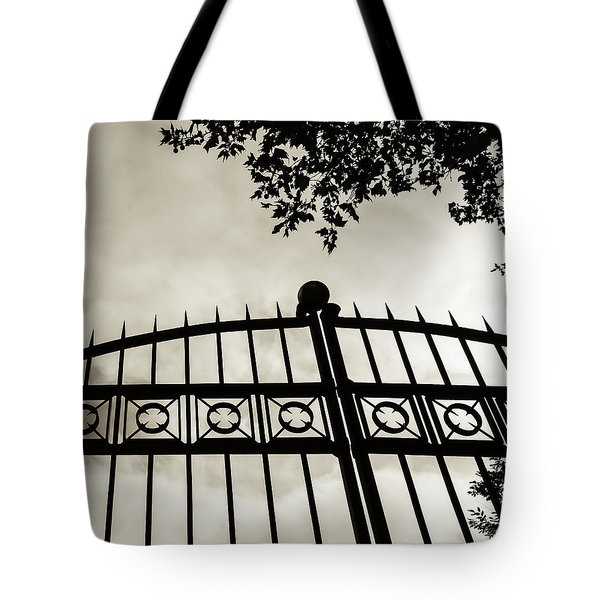 Entrances To Exits - Gates Tote Bag