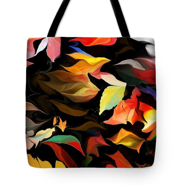 Tote Bag featuring the digital art Entropic Dance Of The Salamander First Snow.  by David Lane