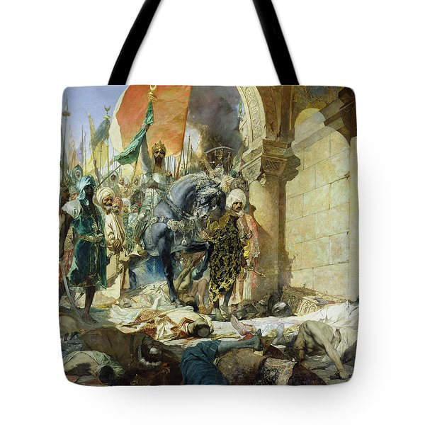 Entry Of The Turks Of Mohammed II Tote Bag by Benjamin Constant