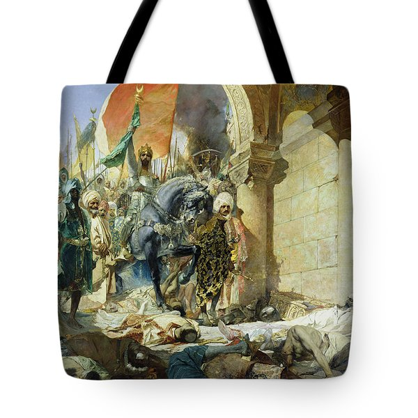 Entry Of The Turks Of Mohammed II Into Constantinople Tote Bag
