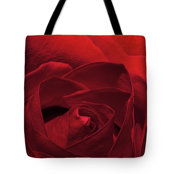 Enveloped In Red Tote Bag by Phyllis Denton