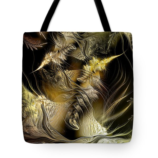 Tote Bag featuring the digital art Environmental Transitions 5 by Casey Kotas