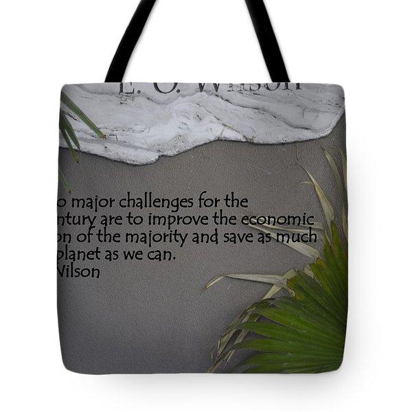 E.o. Wilson Quote Tote Bag