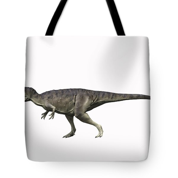 Eocarcharia Dinops, Early Cretaceous Tote Bag by Nobumichi Tamura