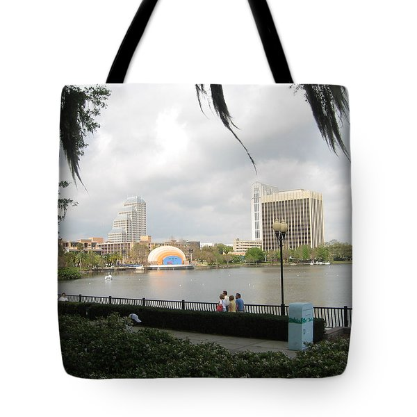 Tote Bag featuring the photograph Eola Park In Orlando by Judith Morris