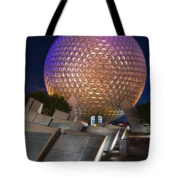 Epcot Spaceship Earth Tote Bag by Adam Romanowicz