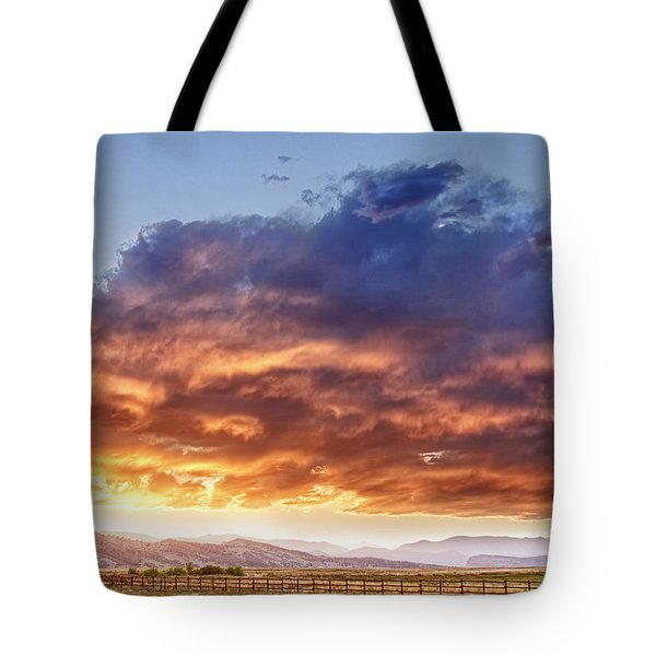 Epic Colorado Country Sunset Landscape Tote Bag by James BO  Insogna