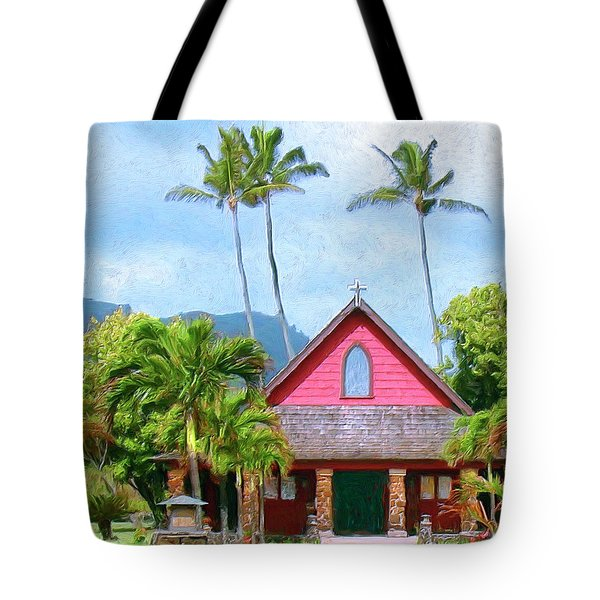 Episcopal Church In Kapaa Tote Bag by Dominic Piperata