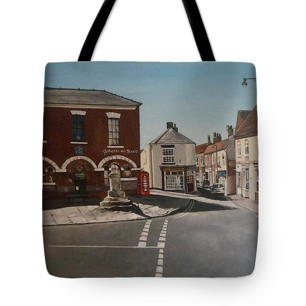 Tote Bag featuring the painting Epworth Cross by Cherise Foster