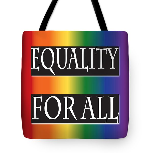 Equality Rainbow Tote Bag