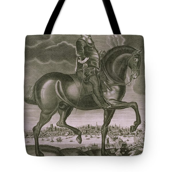 Equestrian Portrait Of Oliver Cromwell  Tote Bag