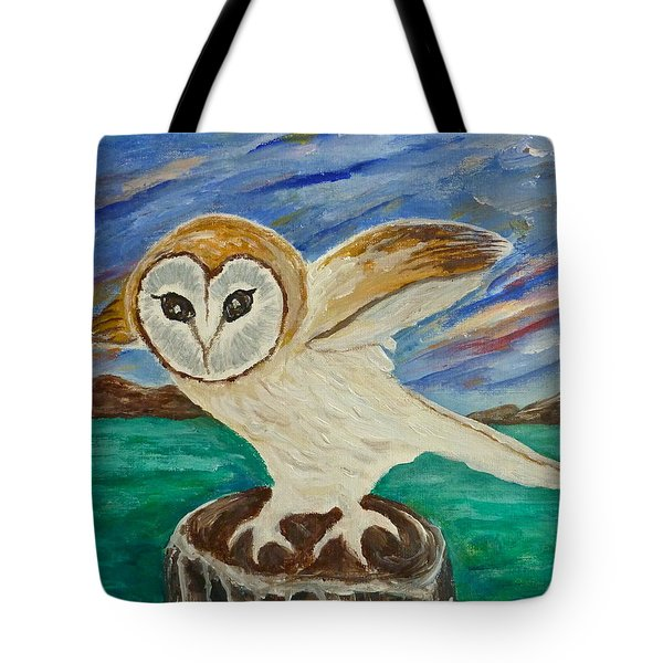 Equinox Owl Tote Bag by Victoria Lakes