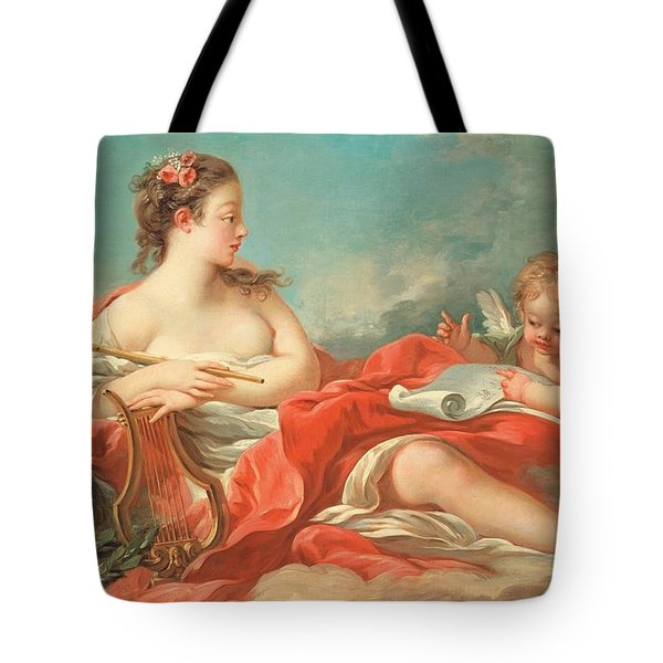 Erato  The Muse Of Love Poetry Tote Bag by Francois Boucher