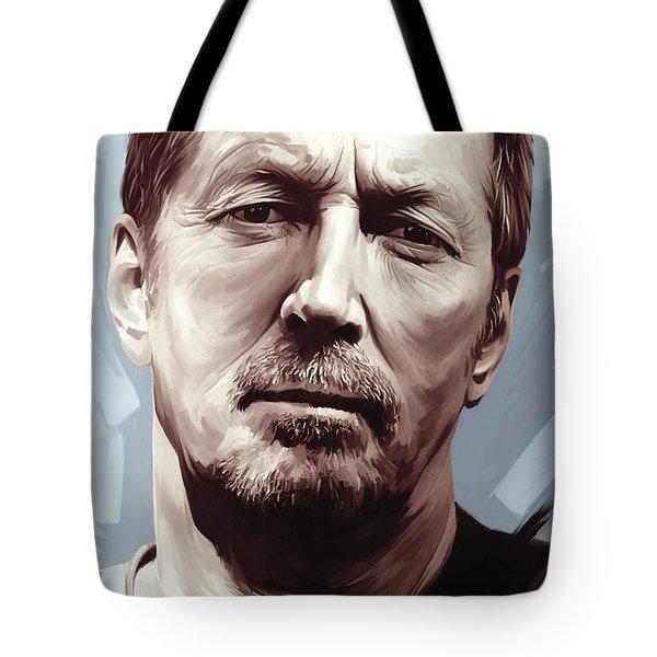 Eric Clapton Artwork Tote Bag by Sheraz A