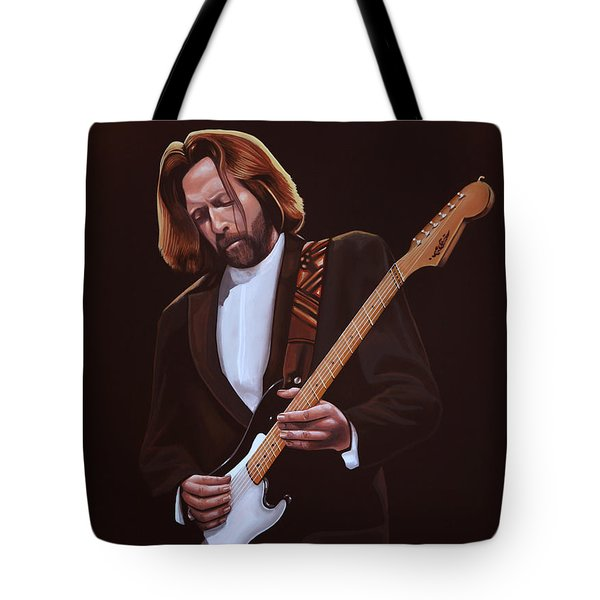 Eric Clapton Painting Tote Bag by Paul Meijering