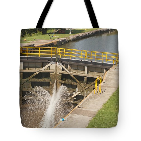 Tote Bag featuring the photograph Erie Canal Lock by William Norton