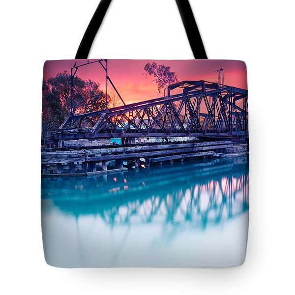 Erie Canal Swing Bridge Tote Bag