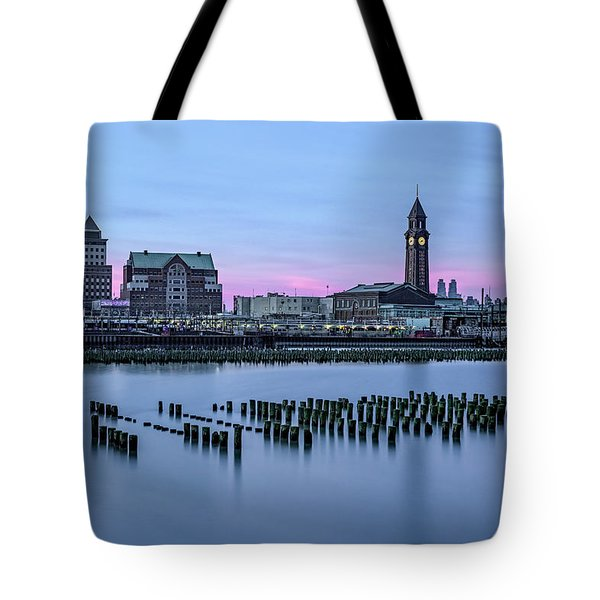 Erie Lackawanna Terminal Sunset Tote Bag by Susan Candelario