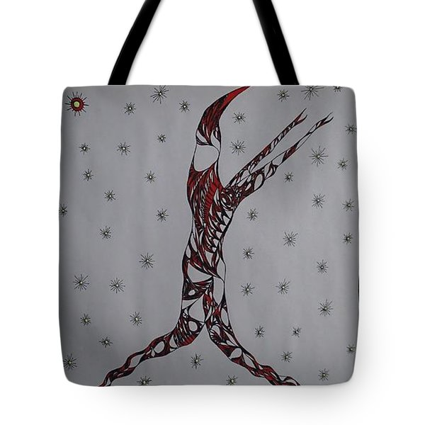 Tote Bag featuring the drawing Erinyes by Robert Nickologianis