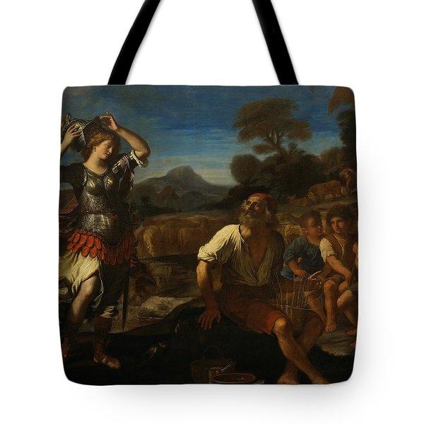 Erminia And The Shepherds Tote Bag by Giovanni Francesco Barbieri