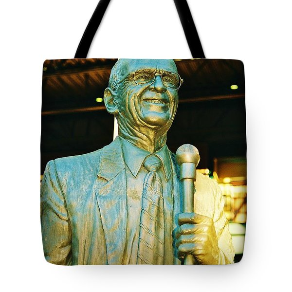 Ernie Harwell Statue At The Copa Tote Bag
