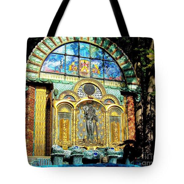 Ernst Fuchs Museum Mural Tote Bag by Mariola Bitner