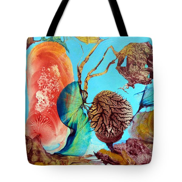 Tote Bag featuring the painting Ernsthaftes Spiel Im Innerem Erdteil by Otto Rapp