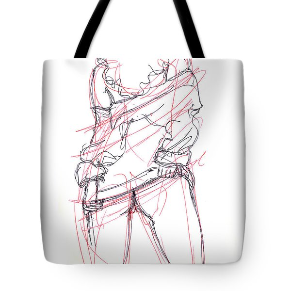 Erotic Art Drawings 6 Tote Bag